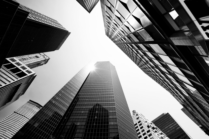 Skyscrapers from Below, Lower Manhattan.